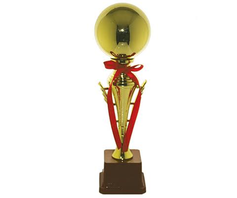 Brass Trophies with wooden base M – 11.75″